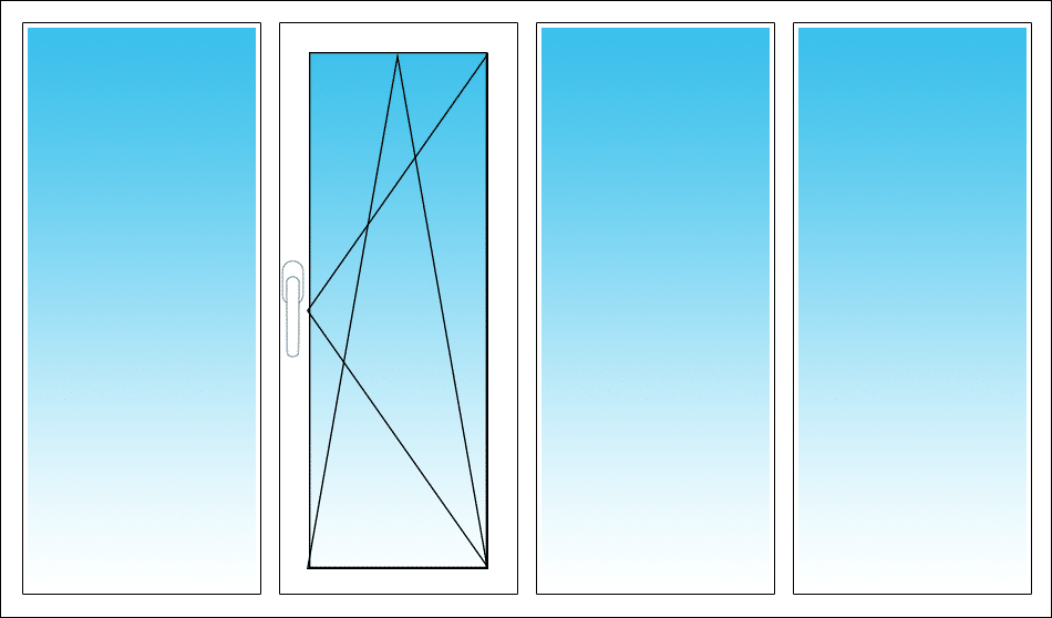 Mitte links, DK öffnet nach rechts