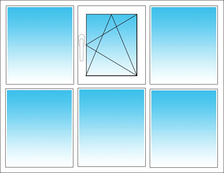 Oben Mitte, Öffnung nach rechts