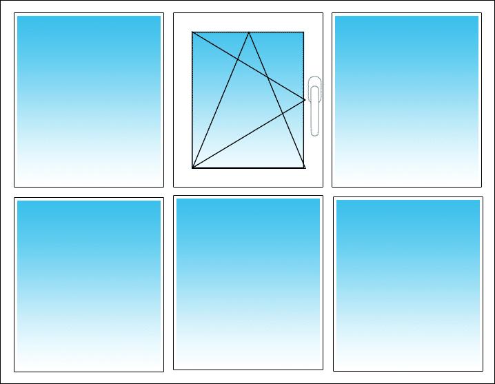 Oben Mitte, Öffnung nach links