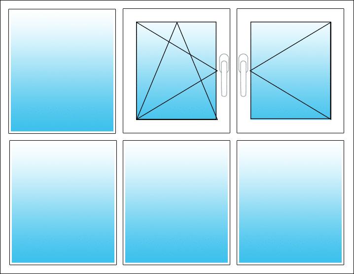 Oben Mitte Dreh-Kipp, rechts Dreh