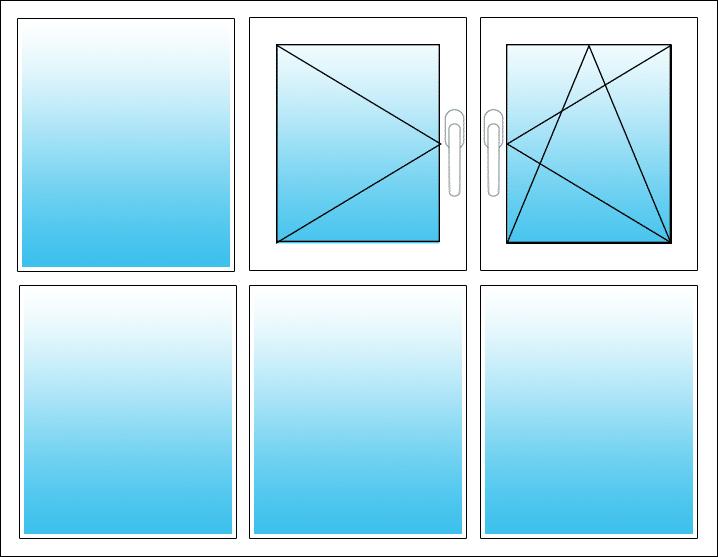 Oben Mitte Dreh, rechts Dreh-Kipp