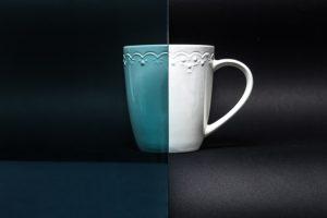 Reflexglas blau