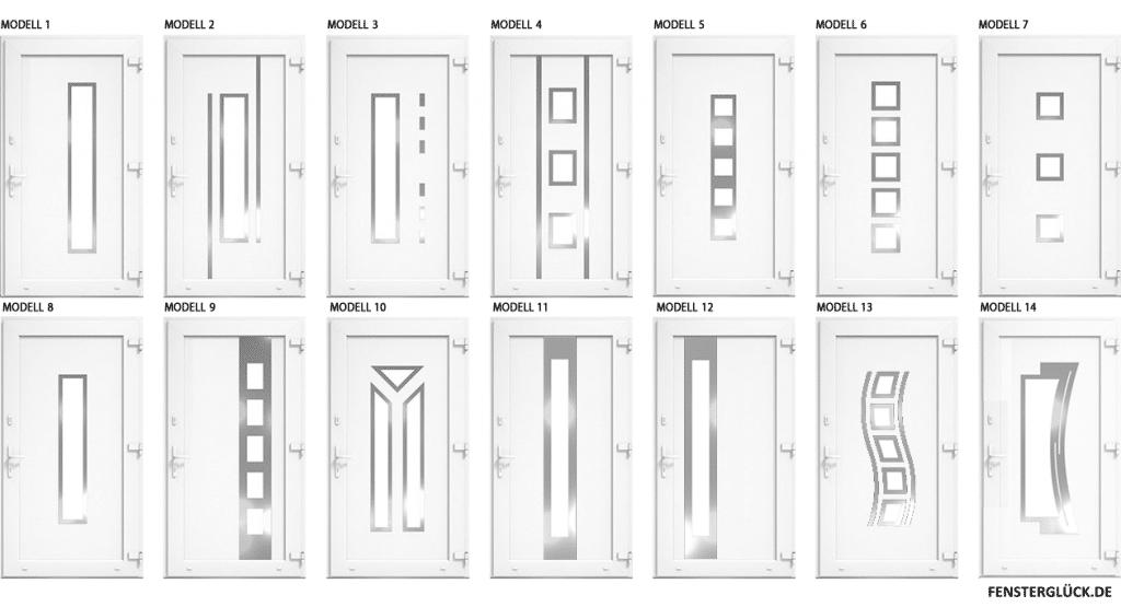 Drutex Haustür Füllungen Kunststoff Weiß