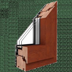 Holz-Aluminium-Fenster Profil Duoline Drutex