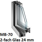MB-70 mit 2-fach Verglasung 24 mm