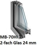 MB-70HI mit 2-fach Verglasung 24 mm