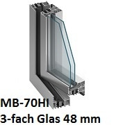 MB-70HI mit 3-fach Verglasung 48 mm