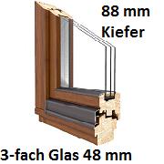 Softline 88 mm Kiefer mit 3-fach Verglasung 48 mm