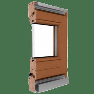 Holz Faltschiebetür System Softline 68